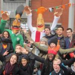Street theatre Ireland, Sports theme entertainers, walkabout entertainment
