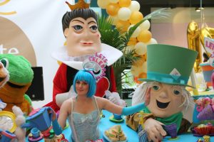 Alice in Wonderland theme entertainers, street theatre, street entertainers