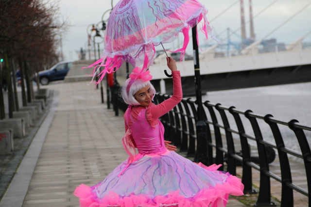 maritime themed entertainers, Jelly fish costumes